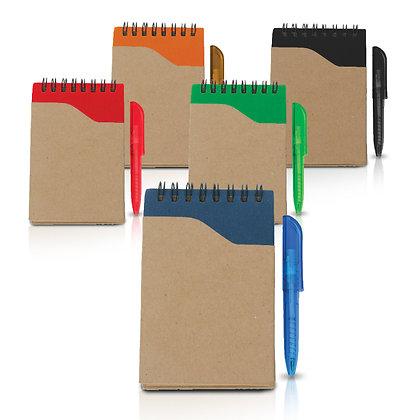 פסרון - פנקס כיס נייר ממוחזר בגודל A6 עם עט