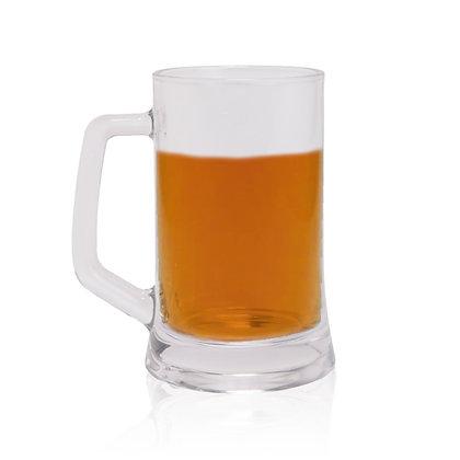 """בלייזר - כוס זכוכית לבירה עם ידית אחיזה 330 מ""""ל"""