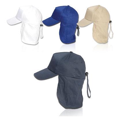 ליגיונר - כובע 5 פאנל עם הגנה לעורף 100% כותנה