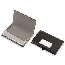 """""""פרטנר"""" קופסת כרטיסי ביקור דמוי עור עם לוחית"""