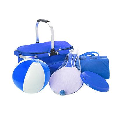 """פמילי טיים - ערכת קיץ/פיקניק הכוללת צידנית משפחתית עם ידית אלומיניום מדגם """"קארי"""