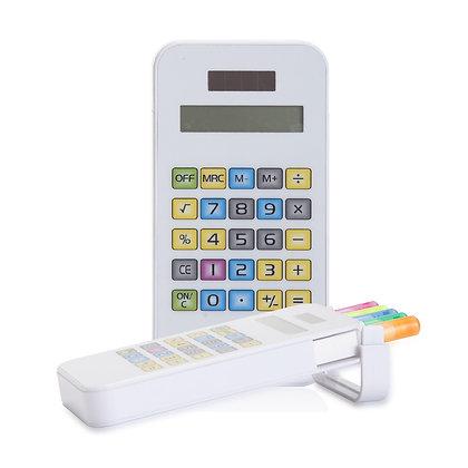 """מקסימום - מחשבון עם 5 מרקרים מיוחדים נשלפים 12.5X6.5 ס""""מ"""