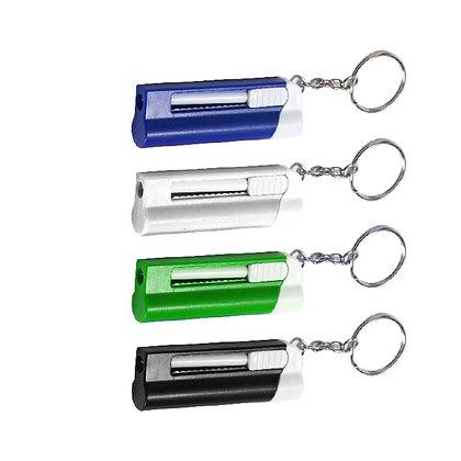 צרור - מחזיק מפתחות פנס לד עם עט נשלף