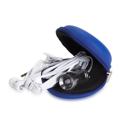 קיט - מארז פונקציונאלי הכולל אוזניות ופנס לד בנרתיק שימושי ורב פעמי עשוי PU