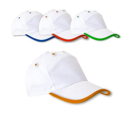 ונציה - כובע מצחיה משולב 2 צבעים, 7 פאנל 100%כותנה