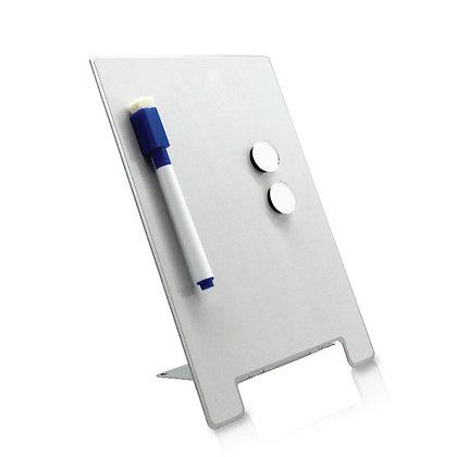 רימיינדר - לוח ממו שולחני מחיק מעוצב עשוי מתכת, מתאים להדפסת סובלימציה עם טוש מח