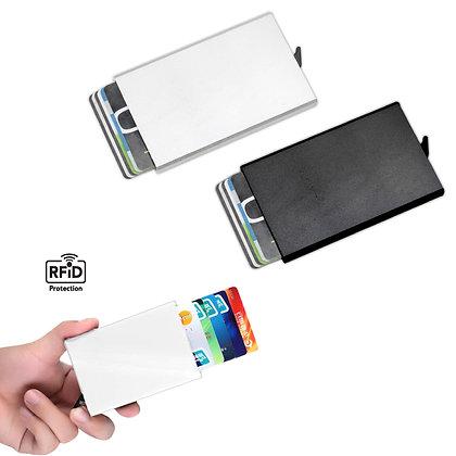 ברינקס  - ארנק מתכת לכרטיסי אשראי עם מנגנון NFC לשליפת כרטיסים מדורגת עם מנגנון