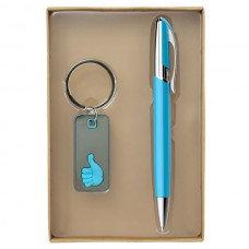"""""""סט מגוסטה"""" עט + מחזיק מפתחות בקופסה"""