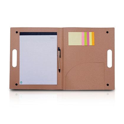 גרין בוק - מכתביה מנייר ממוחזר עם דפדפת ,עט ודיגלונים גודל A4