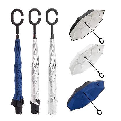 דואט - מטריה מתהפכת איכותית דו צדדית 23 אינץ'