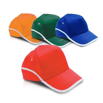 ורונה - כובע מצחיה משולב 2 צבעים, 5 פאנל 100% כותנה סגר סקוץ'