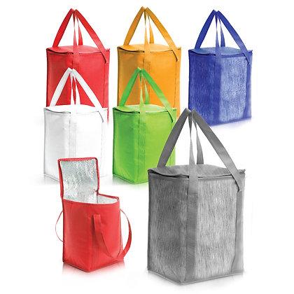 """ברד - צידנית המשמשת גם כתיק קניות עשויה אל בד, 14 ליטר, 32X18X25 ס""""מ"""
