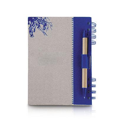 דף רון - מחברת מנייר ממוחזר עם עט גודל A5