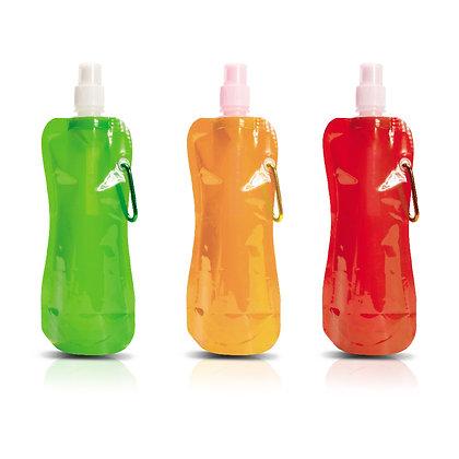 """טרופית - בקבוק/שקית שתיה מתקפל עם שקאל 500 מ""""ל"""