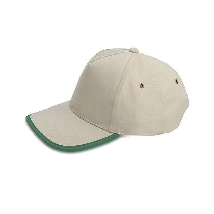 רומא - כובע מצחיה 5 פאנל כותנה סרוקה סגר מתכת