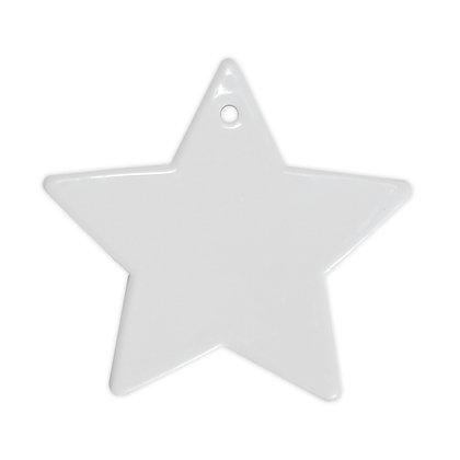 """שביט - מעמד לתליה בצורת כוכב עשוי קרמיקה - מתאים לסובלימציה  12 ס""""מ"""