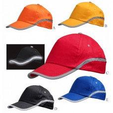 """""""רפלקטור"""" כובע כותנה 5 פנלים פסים זוהרים"""