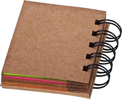 קפאוס - פנקס ספירלה, כריכה קשה, נייר ממוחזר, ניירות ממו דביקים, דיגלונים