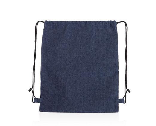 """גואה - תיק שרוך עשוי בד ג'ינס עובי בד 150 גרם שרוך בעובי 8 מ""""מ 36X44 ס""""מ"""