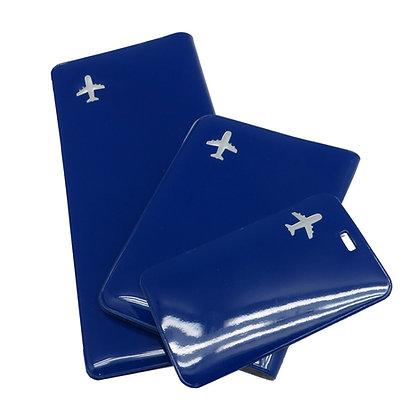 בונוס - סט טיסה לדרכון 3 חלקים במארז PVC