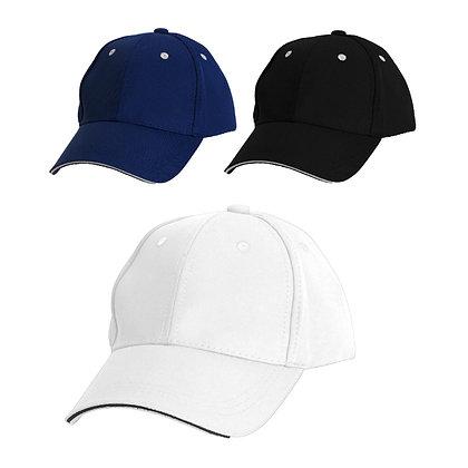 פיזה - כובע מצחיה 6 פאנל בד איכותי במיוחד מצחיה סנדוויץ