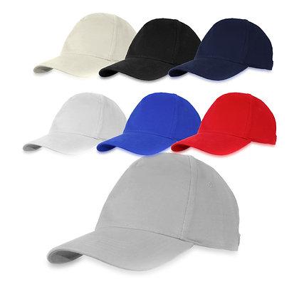 נאפולי - כובע מצחיה 5 פאנל כותנה סרוקה סגר מתכת