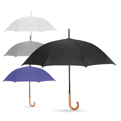 אקפלה - מטריה עם מוט מתכת, ידית אחיזה סבא מעץ 23 אינץ'