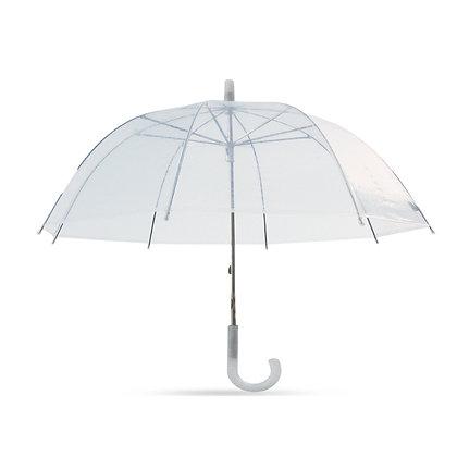סונטה - מטרייה רטרו שקופה עשויה PVC שקוף 21 אינץ'