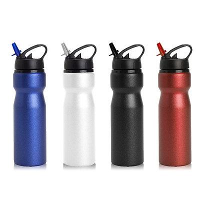 """מים - בקבוק שתייה עשוי אלומיניום עם פיה מתכוונת 750 מ""""ל"""