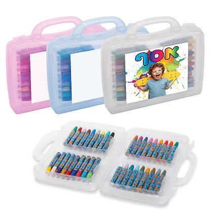 """פנדה - מזוודה רב שימושית עם ידית נשיאה, המכילה 36 צבעי פנדה 22X20 ס""""מ"""