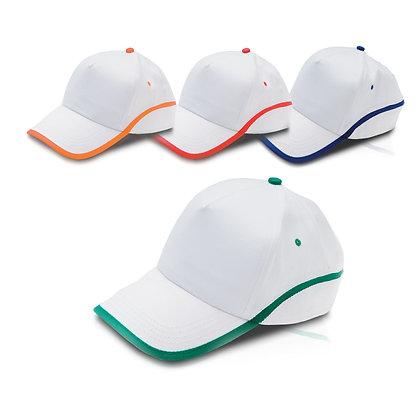 מילאנו - כובע מצחיה משולב 2 צבעים, 5 פאנל 100%כותנה סגר סקוץ'
