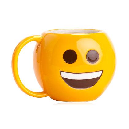 """מוג'י חיוך - ספל קרמיקה 400מ""""ל"""