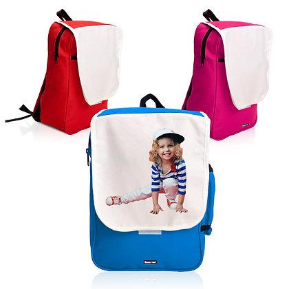 """קינדר - תיק גב לילד עשוי בד קורדורה מתאים להדפסת סובלימציה 34X25 ס""""מ"""