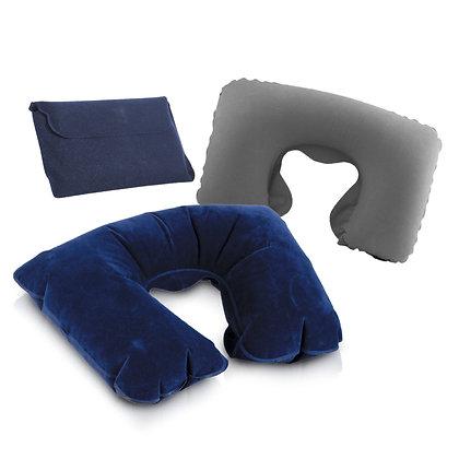 קומפי - כרית מתנפחת לצוואר עם נרתיק תואם