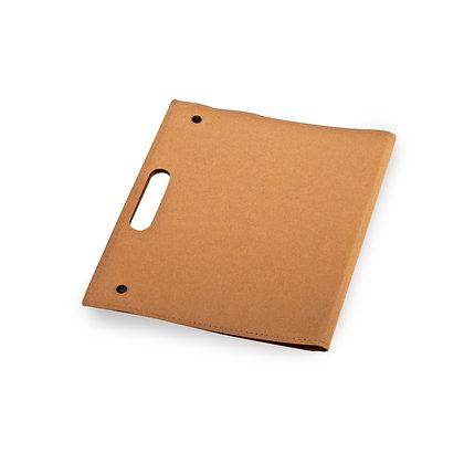 טיניום - מכתביית A4 ,נייר ממוחזר,בלוק נייר שורה,כיס פנימי,נייר ממו דביק ודגלונים