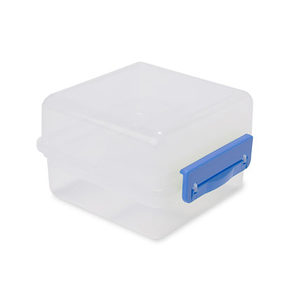 """מיל - קופסת אוכל עם חלוקה פנימית ומגש נשלף , 14X14 ס""""מ"""