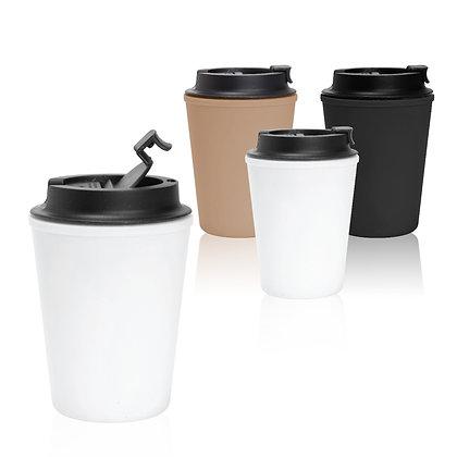 """קאפ - כוס עם מכסה אטימת סיליקון 350 מ""""ל"""