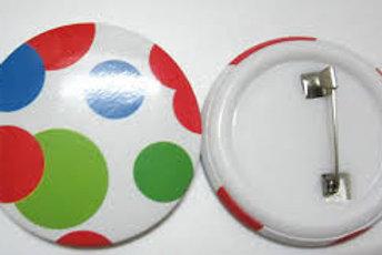 חבילת 50 כפתור סיכה עם הדפסה אישית