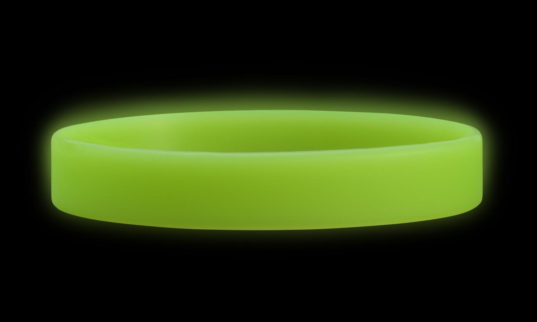 צמיד סיליקון ירוק זוהר