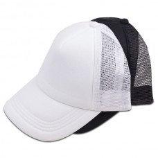 """""""ראפר"""" כובע רשת 5 פנלים בצבע מלא"""