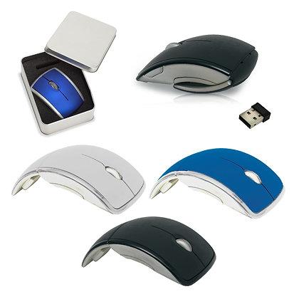 ג'ובס - עכבר אופטי אלחוטי ארגונומי מתקפל וקל לשימוש במארז מתנה עשוי מתכת