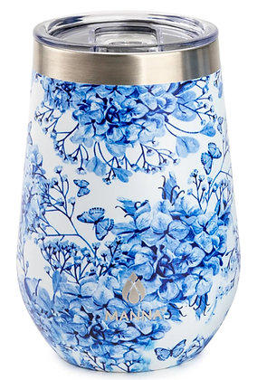 Stemless Wine Tumbler - Dutch Floral