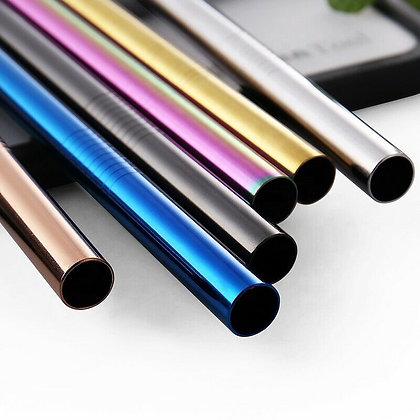 4 x Reusable Metal Straws