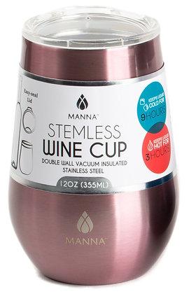 Stemless Wine Tumbler - Metallic Blush