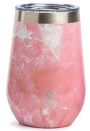 Stemless Wine Tumbler - Pink Marble