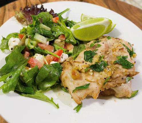 Honey & Lime Chicken with Feta Salad