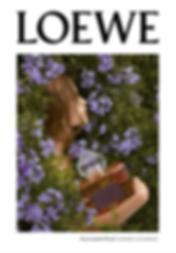 grafica, aura, loewe, floral, campaña, perfume,