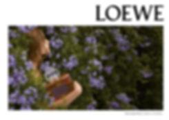 dobl, pagina, editorial, interior, loewe, floral, aura, foto, campaña, perfume, muje, femenino,