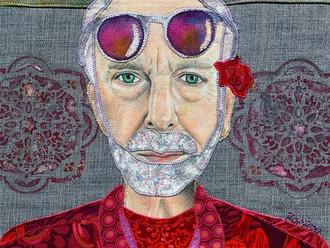 Love is who we are: Krishna Das Fabric Portrait