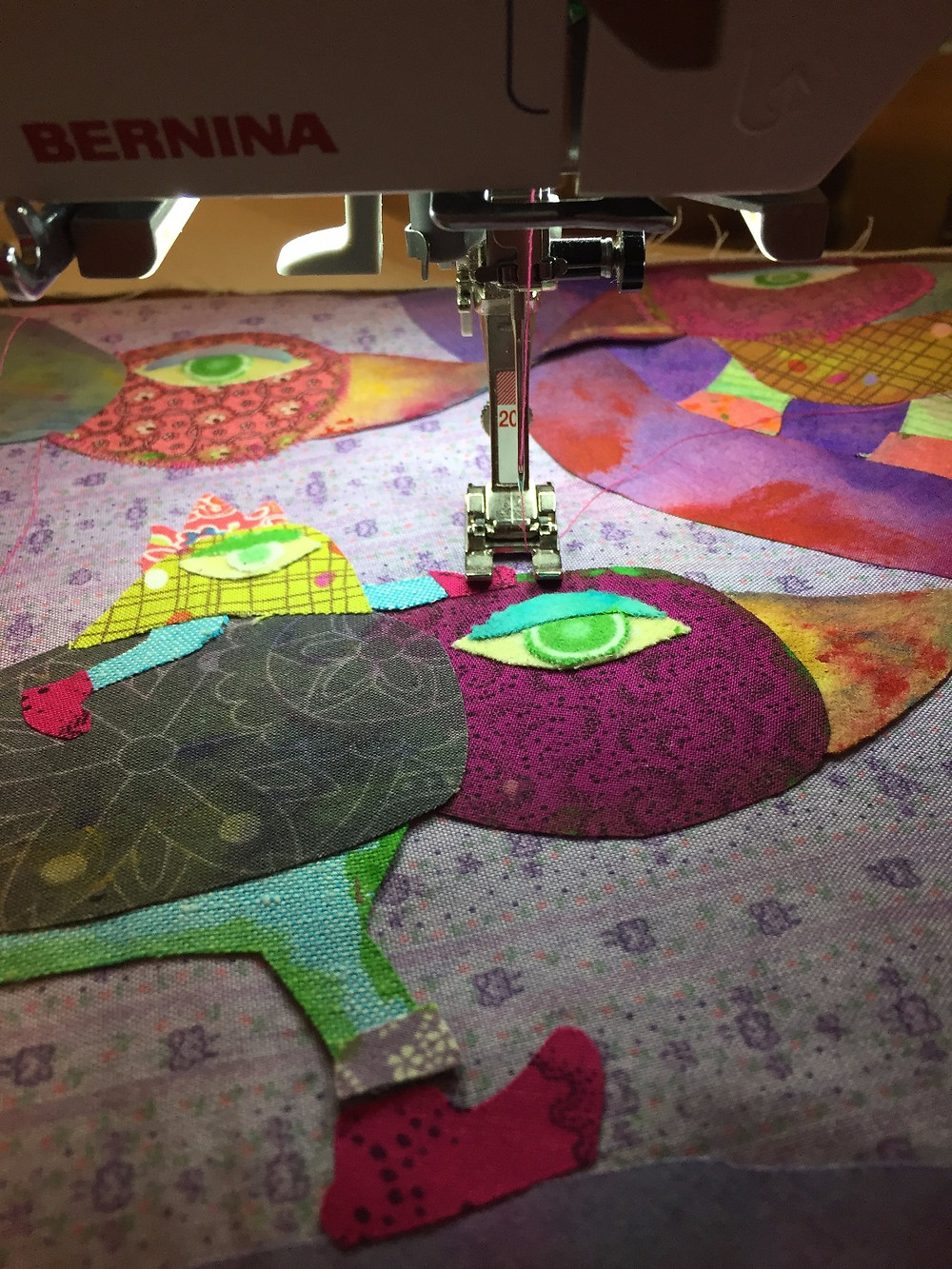 stitching and applique